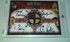 Harry Potter GOF Quad Autograph Costume Card Radcliffe Pattinson Poesy auto