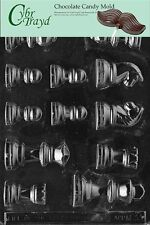 Cybrtrayd M033 Chess Pieces Chocolate Candy Mold with Exclusive Cybrtrayd XCL