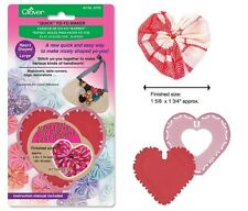 Clover Quick Yo-Yo Maker Heart Shaped Large #CL8705 Sewing Quilting Notions