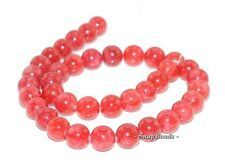 10MM CAMEO ROSE JADE GEMSTONE RED ROUND 10MM LOOSE BEADS 15""