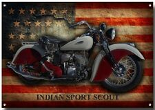 INDIAN SPORT SCOUT METAL SIGN,ENAMELLED FINISH.AMERICAN,RETRO,CLASSIC.