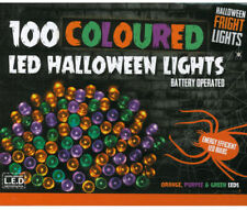Halloween Party/Prop/100 Multi-coloured String Lights/purple/green/orange/Batter