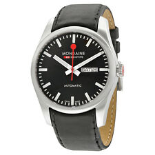 Mondaine Automatic Black Dial Black Leather Watch A1323034514SBB