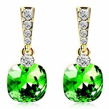 Free shipping Womens 9K Yellow Gold Filled AAA CZ Crystal Earrings Drop Y-K550-a