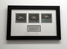 Framed F1 photographs SIGNED Piers Courage, Jacky Ickx, Francois Cevert, COA