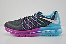 Womens Nike Air Max 2015 Running Shoes Size 7 Purple Black Blue White 698903 004