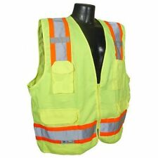 Radians SV62 Class 2 Two Tone Surveyor Safety Vests, Solid Twill