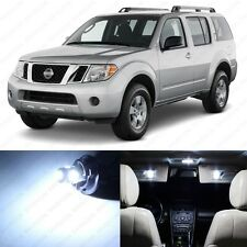 10 x Xenon White LED Interior Light Package For 2005 - 2012 Nissan Pathfinder