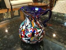 "Multicolor Murano Italy 5&3/8"" Tall Pitcher"