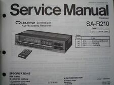 TECHNICS SA-R210L Stereo amplifier receiver Service manual wiring parts diagram