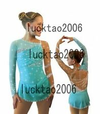 2016 New Figure Ice Skating Dress Costume Sparkle Brand icefairy #8884