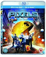 Pixels 3D (Blu-Ray) New Sealed Movie Kids Boys Ultraviolet Region Free Slipcase