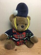 """13"""" BEAR OF SCOTLAND Keels Toy SIMPLY SOFT COLLECTION Plush Teddy Scottish Piper"""