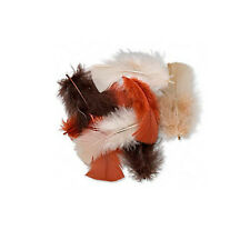 Lot of 140 Brown, Tan, Rust Assorted Mix Real Turkey Feathers 2 - 5 inches Long
