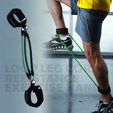 3X Leg Thigh Muscle Training Resistance Band Fitness Workout Tube Ankle Straps
