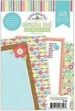 NEW DOODLEBUG DESIGNS SIMPLY FLOWER BOX NOTE ALBUM INSERTS