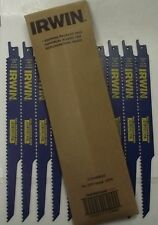 "Irwin 372956B 9"" Nail Embedded Wood Cutting Reciprocating Saw Blades 10-Pack"
