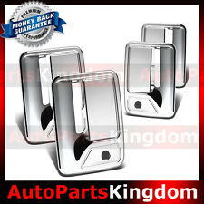 Chrome Door Handle NO PSG keyhole Cover For 99-16 Ford Super Duty F250+F350+F450