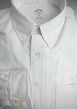 Brooks Brothers White Oxford BD Collar Shirt ~ NWOT - Slim Fit ~ USA Medium ~New