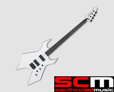 RRP $1099 BC RICH PAOLO SIGNATURE WARLOCK ELECTRIC BASS GUITAR WHITE EBONY