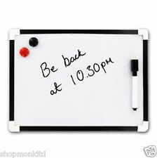 A4 Dry Wipe Magnetic Whiteboard Mini Office Notice Memo White Board Pen & Eraser