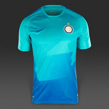 Nike Inter Milan Flash Pre-Match Training Shirt Top Jersey 2015/16 New Blue S