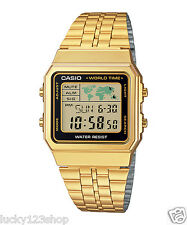 A500WGA-1D Gold Casio Men's Watches Digital Stainless Steel Band Brand-New