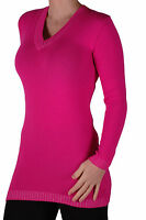 Womens V Neck Long Sleeve Knitted Pullover Jumper Sweater Blouse Tops Sweatshirt