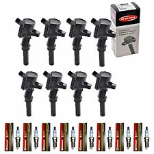 Set of  8 Motorcraft Spark Plugs + 8 Delphi Ignition Coils Ford Lincoln Mercury