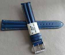 France Navy Blue Water Resistant 20mm Long Watch Band Chrome Buckle $34.95