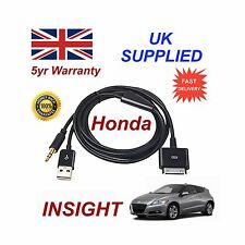 Genuine Honda INSIGHT iPhone 3 4 4S iPod USB & 3.5mm Aux Cable replacemnt Black