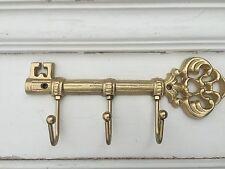 GOLD Cast Iron SKELETON KEY HOLDER - Wall Hook Hanger - French Home Decor