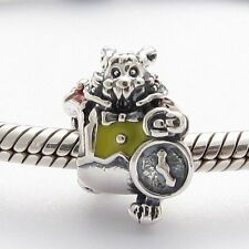 WONDERLAND RABBIT CHARM Bead Sterling Silver.925 for European Bracelets 611