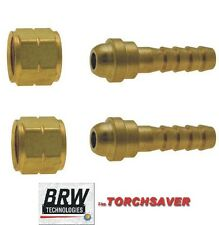 A-size LH Acetylene 3/16 hose fitting jewelers little brazing torch #A-316-LH-FG