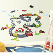 New Cute Car Track Home Wall Sticker Nursery Wall Decal For Kids Baby Room Decor