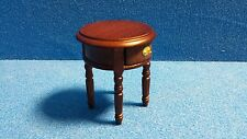 1/12 scale Dolls House Furniture  Round Side Table with Draw     DHD-BY31