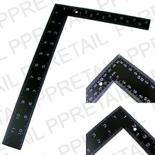 """LARGE 8"""" x 12"""" STEEL ROOFING SQUARE Dual Marking Framing Carpenter Measure NEW"""