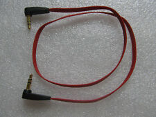 1pc 3.5mm Red flat Double right angle Male to M Stereo Audio cord Aux Cable 50cm