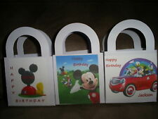 MICKEY MOUSE CLUBHOUSE Birthday Party pack 12 Favor Boxes Free Personalization