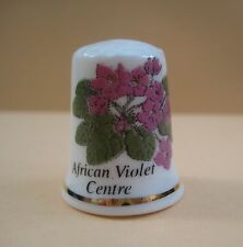 Vintage decorative porcelain Flower thimble, African Violet Centre