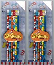 Set of 12 DR SEUSS PENCILS Cat in the Hat Green Eggs and Ham One Fish Two Fish