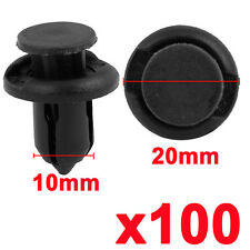 100 Pcs 10mm Plastic Push Type Rivet Retainer Fastener Bumper Pin Clips for Car