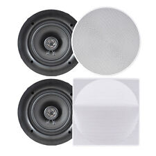 "NEW Pyle PDIC56 PAIR of 5.25"" In-Wall/In-Ceiling 150W 2-Way Flush Mount speakers"