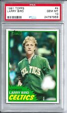 1981 Topps Basketball #4 Larry Bird Card PSA 10