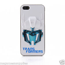 White / Blue 3D Transformers Optimus Prime iPhone 5 5s 3D Plastic Full Back Case