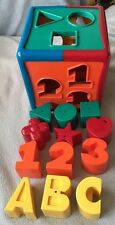 Battat Parents Shape Sorter Baby Toy Educational ABC 123 Activity Cube Complete