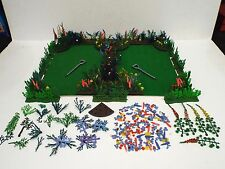 BRITAINS FLORAL GARDEN BIG JOB LOT OF FLOWER'S BENDS, GRASS, ETC  L@@K  (BS1512)