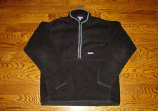 Patagonia Synchilla Fleece Jacket Large 1/4 Zip Black Warm Winter