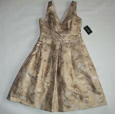 JESSICA SIMPSON 10 Anniversary Gold Jacquard Evening Party DRESS womens  4 NEW