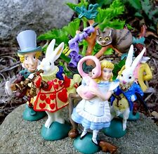 Disney Alice In Wonderland 1990 Hamilton Miniature Figurine Set of 6 VTG Toys